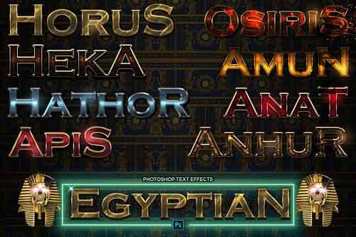 Ancient Egyptian Pharaoh Text Effects