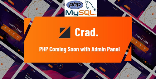 CodeCanyon - Crad v1.0.1 - PHP Coming Soon with Admin Panel - 28523056