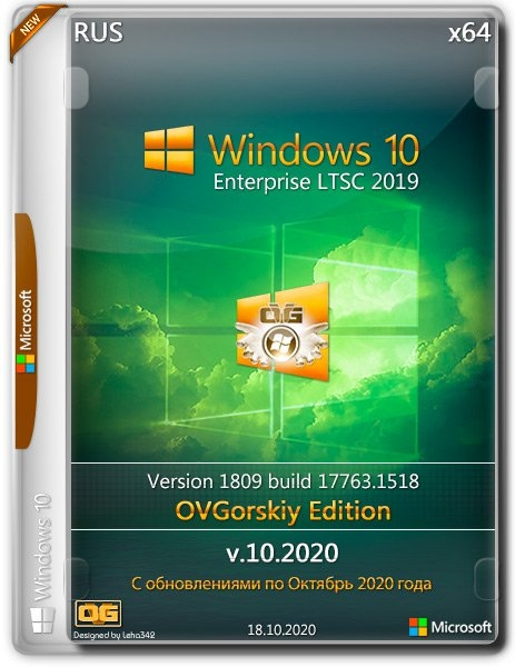 Windows 10 Enterprise LTSC 2019 1809 by OVGorskiy 10.2020 2DVD (x86-x64) (2020) (Rus)