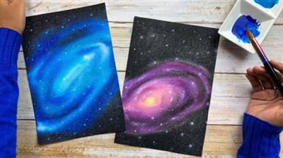 SkillShare - Watercolor Galaxies for Beginners - Learn to Paint a Stellar Spiral Galaxy