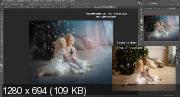 Эффект мягкого свечения и контраста в Фотошоп (2020) HDRip
