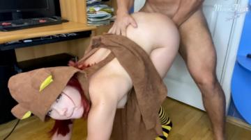 Man Hard Doggy Fuck and Facefuck Babe with Big Ass - Cute Cosplay (2020) 720p