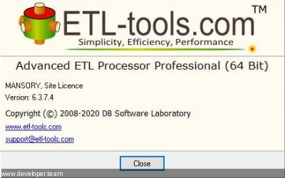 Advanced ETL Processor Professional 6.3.7.7 (x64)