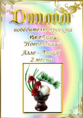 """Проект """"Икебана Новогодняя"""". Поздравляем победителей 87e3e9f46b39d1fc038a2e536345106b"""