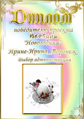 """Проект """"Икебана Новогодняя"""". Поздравляем победителей 011350d76da10e2effb0f1c78b1bdad3"""
