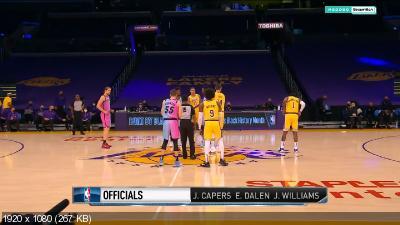 Баскетбол / НБА / 2020-2021 / Сезон / Лос-Анджелес Лейкерс — Майами Хит / NBA / 2020-2021 / Season / Miami Heat @ Los Angeles Lakers (2021) WEB-DL HD/1080p
