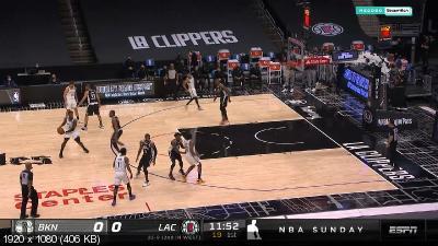 Баскетбол / НБА / 2020-2021 / Сезон / Лос-Анджелес Клипперс — Бруклин Нетс / NBA / 2020-2021 / Season / Brooklyn Nets @ Los Angeles Clippers (2021) WEB-DL HD/1080p