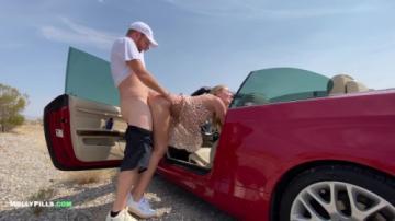 College Slut Gets Roadside Pussy Creampie - Molly Pills (2021) 720p