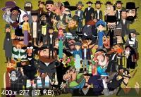 Клипарт Забавные фигурки евреев