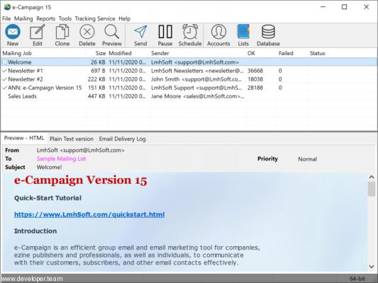 e-Campaign v15 Bulk Email Software Business Edition