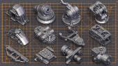 ArtStation - Mega Pack Sci-Fi Hard Surface KITBASH 400 DETAILS