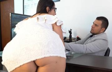 I let my Boss Break my Big Ass and he Cums inside my Ashole for a Promotion Kathalina7777 (2021) 1080p