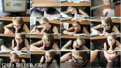 Milf sucks off my big cock right under the table in a crowded office   Porn   2020   FullHD